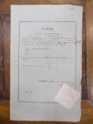 Bilet pentru exportul seului din Principatul Valahiei, 1847