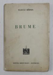 BRUME - versuri de VLAICU BARNA , cu ilustratii in text de W. SIEGFRIED , 1937 , CONTINE DEDICATIA AUTORULUI*
