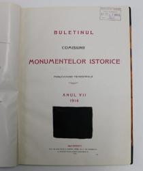 BULETINUL COMISIUNII MONUMENTELOR ISTORICE - PUBLICATIUNE TRIMESTRIALA , ANUL VII , 1914 , PAGINA 147 SI PAGINA DE TITLU AU INTERVENTII CU TUS NEGRU *