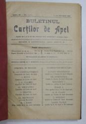 BULETINUL CURTILOR DE APEL , REVISTA DE DREPT , ANUL XV , COLEGAT DE 20 DE NUMERE SUCCESIVE APARUTE INTRE 1 IANUARIE SI 15 DECEMBRIE 1938
