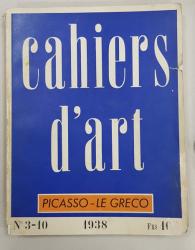 CAHIERS D' ART, NR 3 - 10, 1938