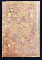 CAILE FERATE ROMANE  - CARNET DE IDENTITATE , PE NUMELE FIICEI DOCTORULUI TITUS DEMETRESCU  DIN PITESTI , EMIS IN 1932