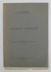CALCULUL CADRELOR de GH. EM . FILIPESCU , 1937