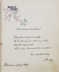 CARNET CU AMINTIRI DIN SCOALA PRIMARA , MANUSCRIS , DATAT 1944