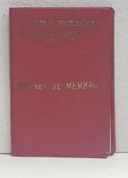CARNET DE MEMBRU  - U.T.M.  - UNIUNEA TINERETULUI MUNICTOR , ELIBERAT LA 1 DECEMBRIE 1954 ,