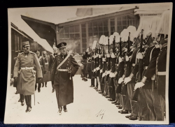Carol II lea, Defilare militara - Fotografie originala