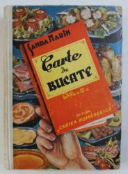 CARTE DE BUCATE de SANDA MARIN  EDITIA  A III-A  BUCURESTI 1937