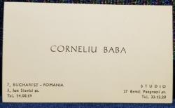Carte de vizita CORNELIU BABA