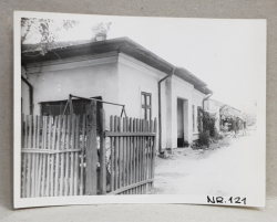 CASA DEMOLATA , STR, SEBASTIAN NR. 121  , FATADA PRINCIPALA , BUCURESTI, FOTOGRAFIE MONOCROMA, PE HARTIE LUCIOASA , ANII '70  - '80
