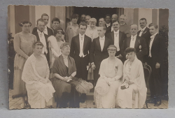 CASATORIA UNEI FAMILII NOBILIARE , POZA DE GRUP , CARTE POSTALA ILUSTRATA , MONOCROMA, NECIRCULATA , INCEPUTUL SEC. XX