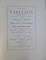 CATALOGUE DES TABLEAUX MODERNES , SCULPTURES , TABLEAUX ANCIENS , OBJETS D 'ART & AMEUBLEMENT  , APPARTENENT A MADAME LA MARQUISE LANDOLFO CARCANO , 1912