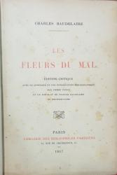 CHARLES BAUDELAIRE , LES FLEURS DE MAL ,PARIS 1917