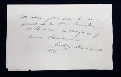 CHITANTA DE MANA SCRISA SI SEMNATA OLOGRAF de ARISTIZZA ROMANESCU , ACTRITA TEATRULUI NATIONAL DIN BUCURESTI , DATATA 1896