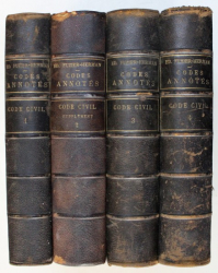 CODES ANNOTES - CODE CIVIL , annote par ED. FUZIER - HERMAN , TOME I - IV , 1885 - 1898