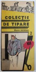 COLECTIA DE TIPARE  - BLUZON BARBATESC , conceptie grafica ARH. SILVIA CONSTANTINESCU si ARH. ENRICO POPESCU