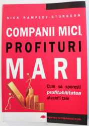 COMPANII MICI , PROFITURI MARI  - CUM SA SPORESTI PROFITABILITATEA AFACERII TALE de NICK RAMPLEY  - STURGEON , 2007