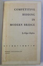 COMPETITIVE BIDDING IN MODERN BRIDGE by EDGAR KAPLAN , 1965