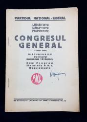 CONGRESUL GENERAL (1 IULIE 1945), DISCURSURILE DOMNULUI GHEORGHE TATARESCU