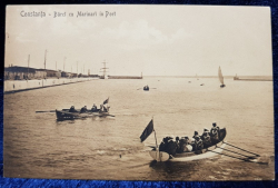 Constanta - Barci cu Marinari in Port - Carte postala ilustrata