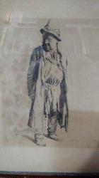 Constantin Jiquidi, Portret de batran cu palarie