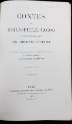 CONTES DU BIBLIOPHILE JACOB A SES PETIT-ENFANTS SUR L'HISTOIRE DE FRANCE - PARIS, 1875