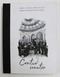 CONTUR DE SENATOR de ROBERT CAZANCIUC si ROMEO RAILEANU , CONTINE DESENE SI EPIGRAME , 2020
