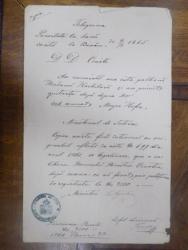 Copie intocmai cu originalul Telegrama 1866