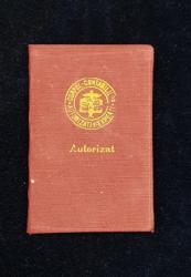 CORPUL CONTABILILOR AUTORIZATI SI EXPERTILOR CONTABILI  - CARTE DE MEMBRU , ELIBERAT LA 24 MARTIE 1948