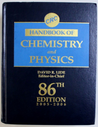 CRC HANDBOOK OF CHEMISTRY AND PHYSICS by DAVID R. LIDE