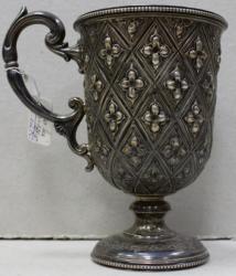 CUPA ARGINT RICHARD MARTIN & EBENEZER HALL 1866 PIESA DE COLECTIE