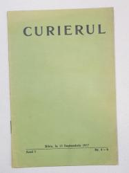 CURIERUL, ANUL I, NR. 8-9, SIBIU, LA 15 SEPTEMBRIE1937