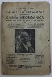 CURS METODIC DE CHIMIE SI MINERALOGIE  - CHIMIA NEORGANICA PENTRU CLASA IV -A LICEE SI SCOLI SPECIALE de C. ISTRATI si G.G. LONGINESCU , 1929  , PREZINTRA HALOURI DE APA *