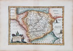 Daciarum, Moesiarumque, Vetus Descriptio - Gravura circa, 1650??