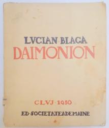 DAIMONION de LUCIAN BLAGA  1930