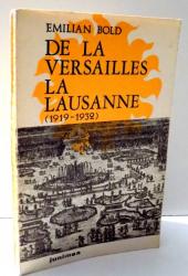 DE LA VERSAILLES LA LAUSANNE de EMILIAN BOLD , 1976