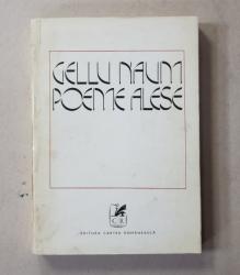 DEDICATIA LUI GELLU NAUM CATRE GEO BOGZA , VOLUMUL ' POEME ALESE ' , 1974