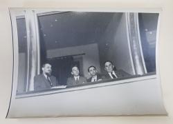DELEGATIA ROMANEI IN LOJA LA AL 24 - LEA CONGRES AL SOCIALISTILOR ITALIENI ( STEFAN VOITEC ...LOTHAR RADACEANU ) , FOTOGRAFIE MONOCROMA , DATATA APRILIE 1946