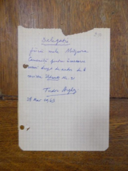 Delegatie Tudor Arghezi, 28 Mai 1963