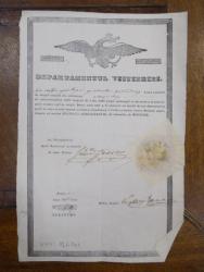 Departamentul visteriei, Ion Petru, corporatia baiangiilor, Bucuresti 1846