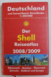 DER SHELL REISEATLAS 2008 / 2009 UND BENACHBARTE REISELANDER 1 300 000
