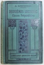 DEUXIEME  LECTURES  - A L ' USAGE DES CLASSES PREPARATOIRES DES LYCEES ET COLLLEGES par A. MIRONNEAU , 1912