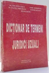 DICTIONAR DE TERMENI JURIDICI UZUALI de ION PITULESCU... ION RANETE , 1996