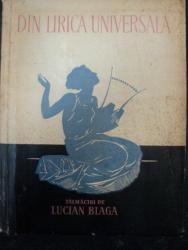 DIN LIRICA UNIVERSALA TALMACIT DE LUCIAN BLAGA - 1957  - CONTINE DEDICATIA LUI L.BLAGA