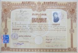 DIPLOMA DE BACALAUREAT - CHISINAU, 1931