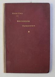 DISCURSURI PARLAMENTARE de HORIA CARP , SESIUNEA SENATULUI OCT. 1927 - APRILIE 1928 , 1928