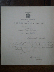 Tit Maiorescu, semnatura olografa Document Ministerul Cultelor, Februarie 1889