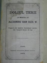 DOLIUL TERII LA MOARTEA LUI ALEXANDRU IOAN CUZA  W.    - IASI 1873