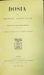DOSIA par  HENRY GREVILLE - PARIS