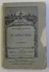 DU CONTRAT SOCIAL par J.- J. ROUSSEAU , 1868