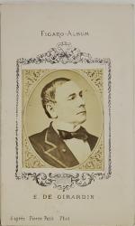 E . DE GIRARDIN  , FIGARO ALBUM , D 'APRES PIERRE PETIT PHOT. , FOTOGRAFIE TIP C.D.V. , 1870